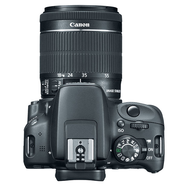 Canon SL1 vue de dessus