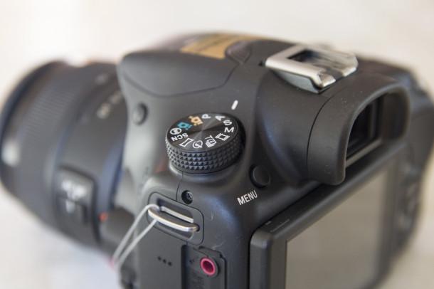 Sony A58 molette des modes