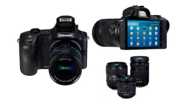 Samsung Galaxy NX sous Android, avec objectifs