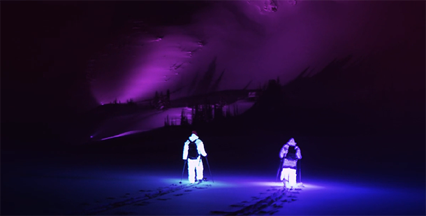 AFTERGLOW led ski