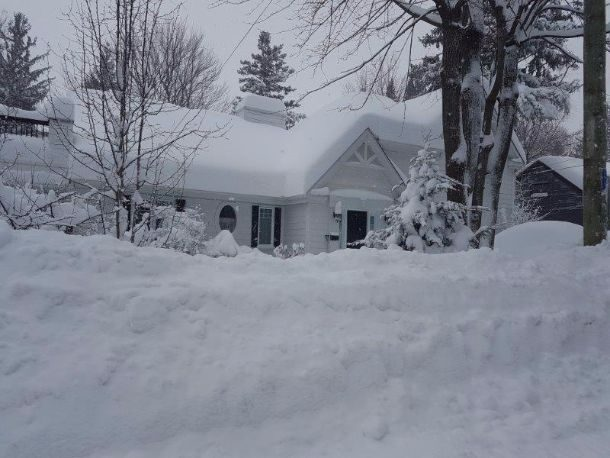 Tempête hivernale au Québec 14 mars 2017