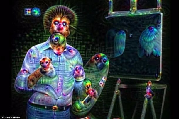 DeepDream Bob Ross